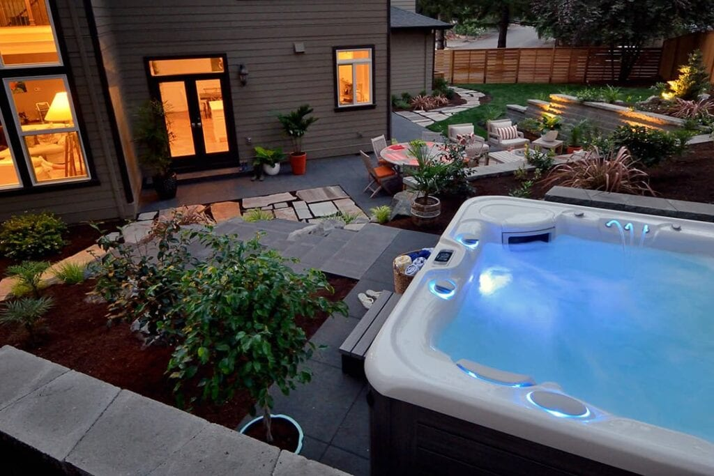 planning an affordable landscaping project? be sure to do it in phases, and leave space for your hot tub!