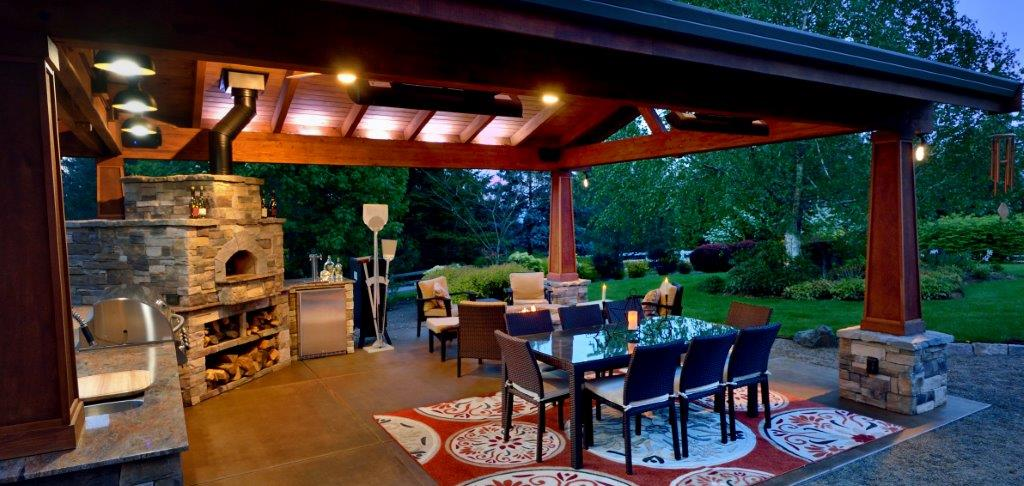 Image of a Cornelius Outdoor Living Room Design and Build by Drake's 7 Dees