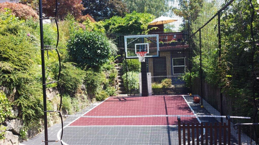 Image of a Tigard Backyard Sports Court Design and Construction by Drake's 7 Dees
