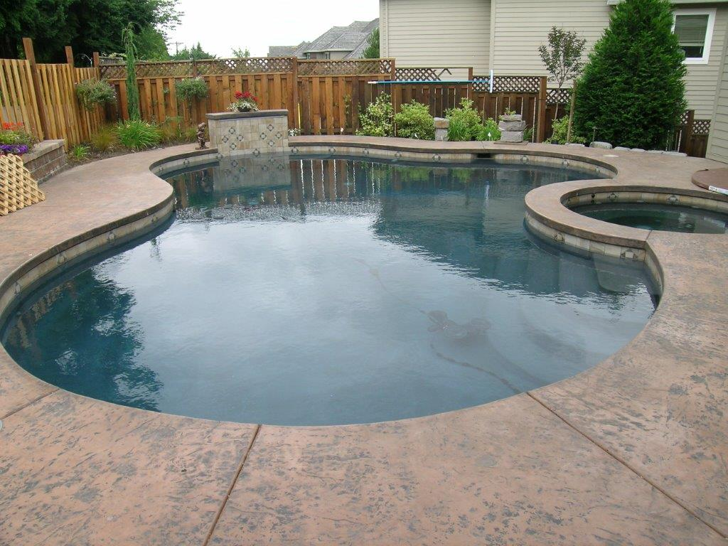 Image of a Fairview Backyard Pool Design and Installation by Drake's 7 Dees