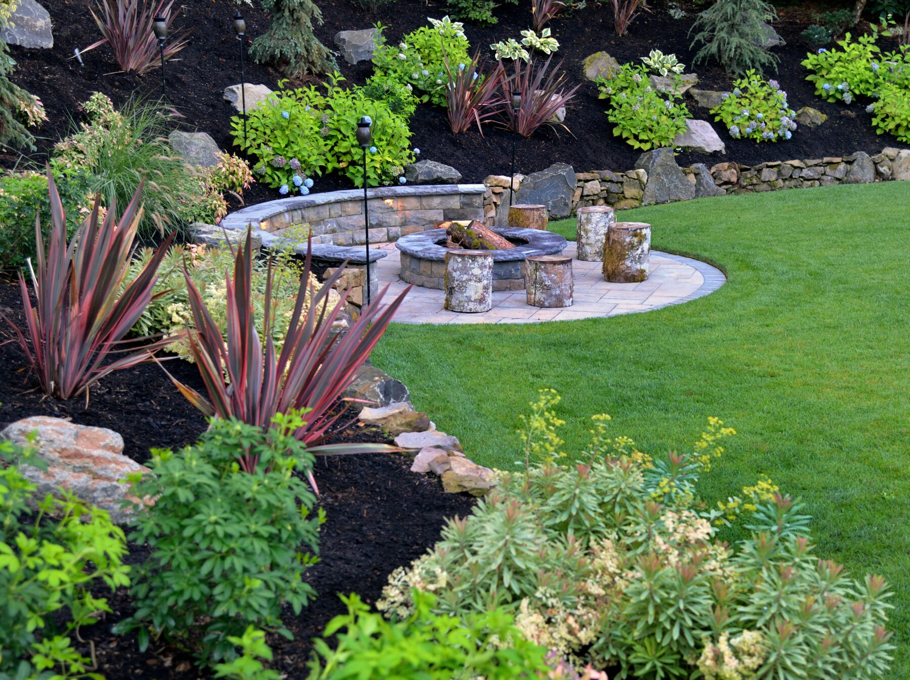 An example of Portland landscape design and landscape construction work