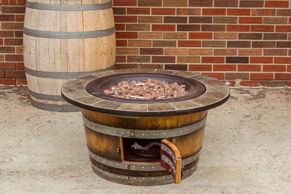 A prefabricated propane fire pit
