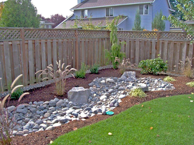A french drain to address drainage problems