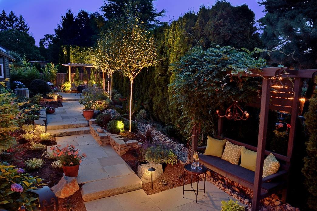 Image of private garden thanks to privacy plants